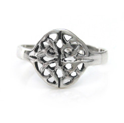 Sterling Silver Circle Celtic Weave Adjustable Toe Ring