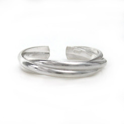 Sterling Silver Overlapping Bands Adjustable Toe Ring