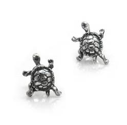 Sterling Silver Turtle Post Stud Earrings