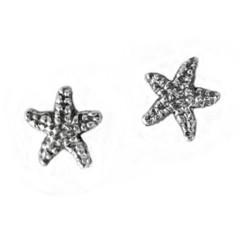 Sterling Silver Starfish Sea Star Post Stud Earrings