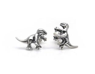 Sterling Silver Dinosaur Abrictosaurus Stud Post Earrings