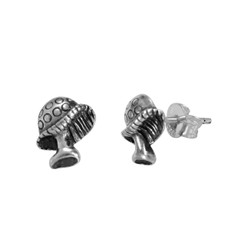 Sterling Silver Mushroom Stud Post Earring