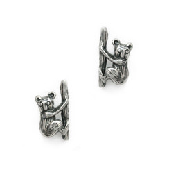 Sterling Silver Koala Bear Stud Post Earrings