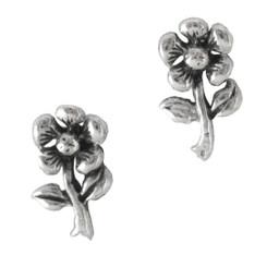 Sterling Silver Daisy Flower Post Stud Earrings