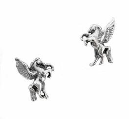 Sterling Silver Pegasus Stud Post Earrings