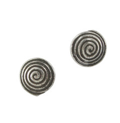Sterling Silver Swirl Round Stud Post Earrings