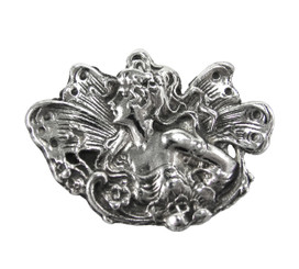 Sterling Silver Winged Fairy Brooch Pin