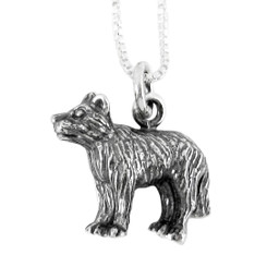 Sterling Silver Chinese Zodiac Dog Charm Necklace