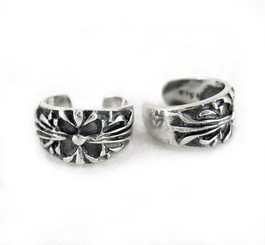 Sterling Silver Fleur de Lis Cuff Earring, One Piece