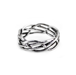 Sterling Silver Four Intertwining Wires Ring