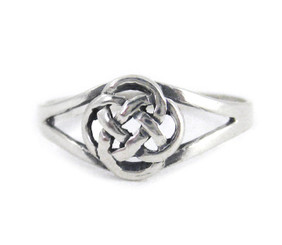Sterling Silver Eternity Celtic Knot Ring
