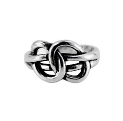Sterling Silver Two Ovals Ring