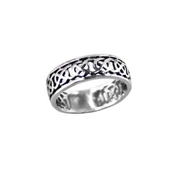 Sterling Silver Celtic Cutout Band Ring
