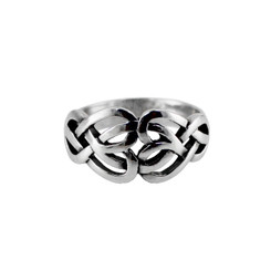 Sterling Silver Celtic Hearts Ring