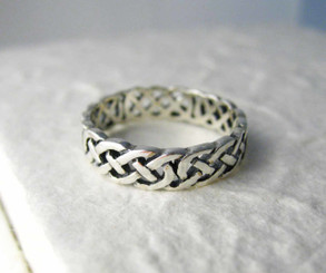 Sterling Silver Celtic Braid Band Ring