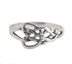 Sterling Silver Elegant Celtic Knot Ring