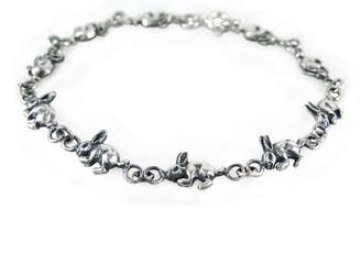 Sterling Silver Rabbit Link Bracelet
