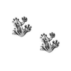 Sterling Silver Dart Frog Stud Post Earrings