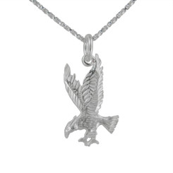 Sterling Silver Eagle Open Claws Necklace