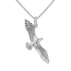 Sterling Silver Flying High Eagle Necklace