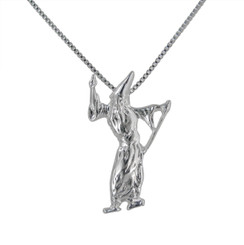 Sterling Silver Wizard Pendant Necklace