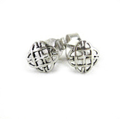Sterling Silver Fancy Celtic Post Earrings