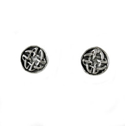Sterling Silver Celtic Swirl Round Post Earrings