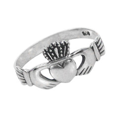 Sterling Silver Claddagh Ring Sized Toe Ring Finger Ring Midi Ring