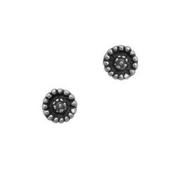 Sterling Silver Bellis Flower Stud Post Earrings