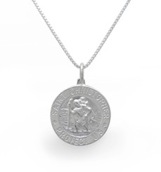 Sterling Silver St. Christopher Charm Necklace For Her