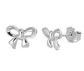 Sterling Silver Petite Bow Post Earrings