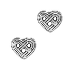 Sterling Silver Celtic Woven Heart Post Earring