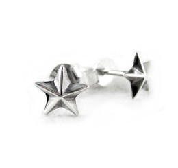 Sterling Silver Americana Star Stud Post Earrings