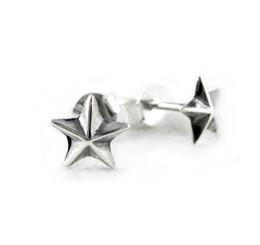 Sterling Silver Americana Star Stud Post Earrings