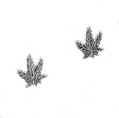 Sterling Silver Maple Leaf Stud Post Earrings
