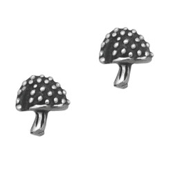 Sterling Silver Amenita Muscaria Mushroom Stud Post Earrings
