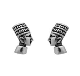 Sterling Silver Egyptian Pharaoh Queen Hatshepsut Stud Post Earrings