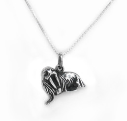 Sterling Silver Walrus Charm Necklace