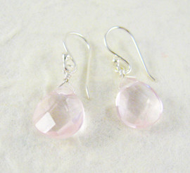 Sterling Silver Crystal Teardrop Drop Earrings, Pink Ice
