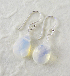 Sterling Silver Crystal Teardrop Drop Earrings, Iridescent