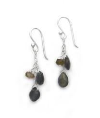 Sterling Silver Briolette Cascade Drop Earrings, Labradorite