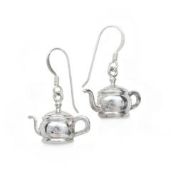 Sterling Silver Tea Pots Earrings