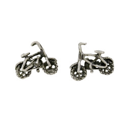 Sterling Silver Bicycle Stud Post Earrings