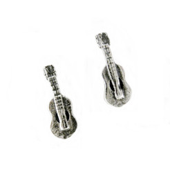 Sterling Silver Guitar Post Earrings