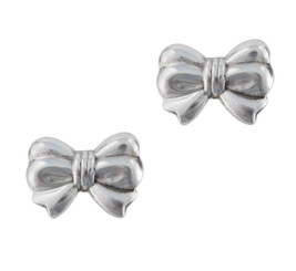 Sterling Silver Bow Stud Post Earrings
