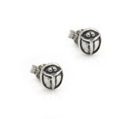 Sterling Silver Ladybug Stud Post Earrings