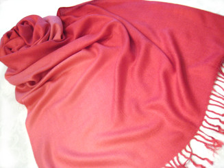 "Pashmina Scarf Shawl Color Gradiant, Approx 27""W - 77""L Hot Pink"