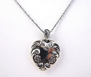 "Sterling Silver ""Cynthia's Heart"" Necklace"