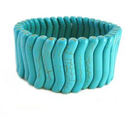 Blue Howlite Nesting Stone Stretch Bracelet