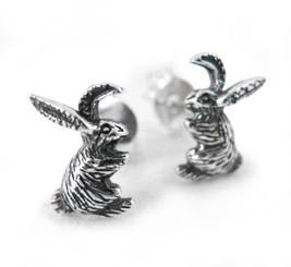 Sterling Silver Bunny Rabbit Stud Post Earrings